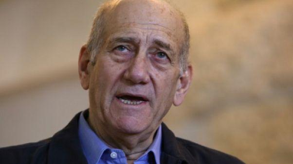 Israël: libération anticipée pour l'ex-Premier ministre Ehud Olmert