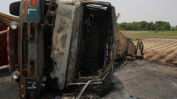 Pakistan: l'incendie d'un camion d'essence a fait 174 morts (nouveau bilan)