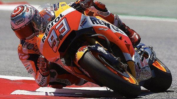 MotoGp: Germania, 3/e libere a Marquez