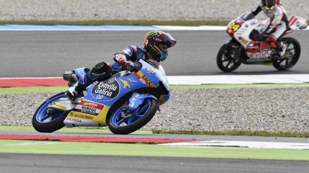 Gp Germania: Moto3, Canet conquista pole