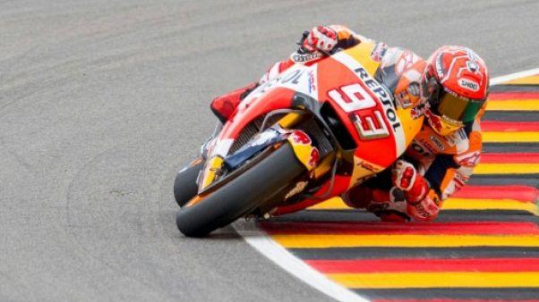 Moto: Marquez décroche sa 3e pole de la saison au GP d'Allemagne