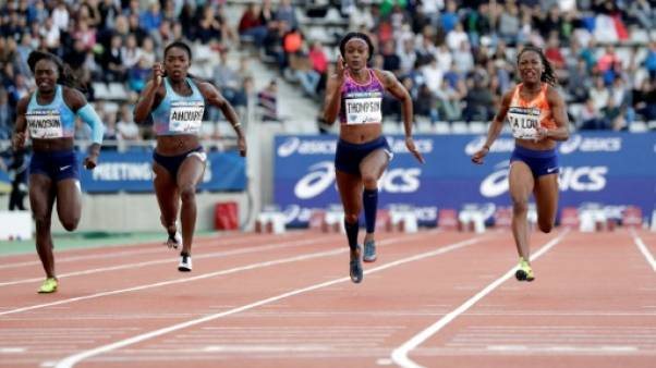 Athlétisme: victoire de Thompson sur 100 m dames Ligue de diamant de Paris