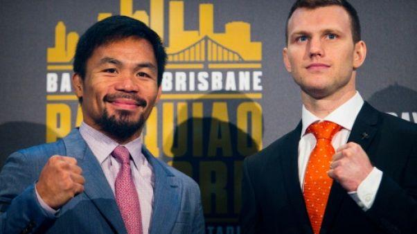 """Boxe: Manny Pacquiao et Jeff Horn, la star contre le """"prof"""""""
