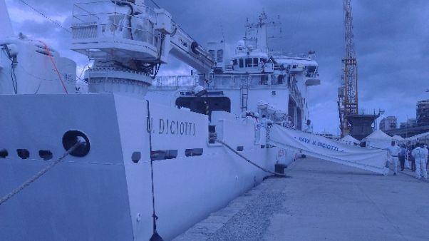Nave a Reggio C.con 413 migranti a bordo