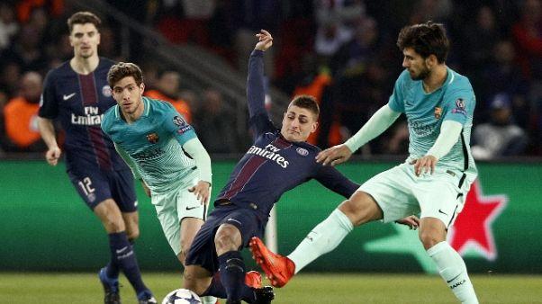 Verratti a Parigi ma sogna il Barcellona