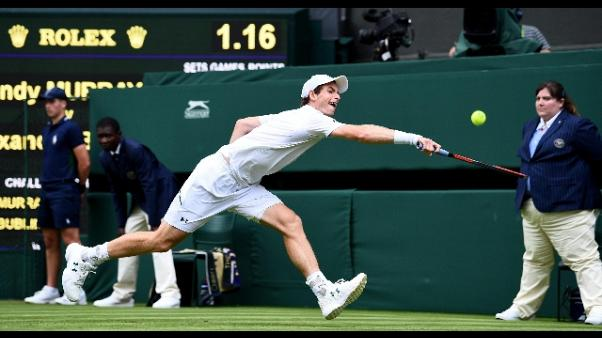 Wimbledon: Murray al secondo turno