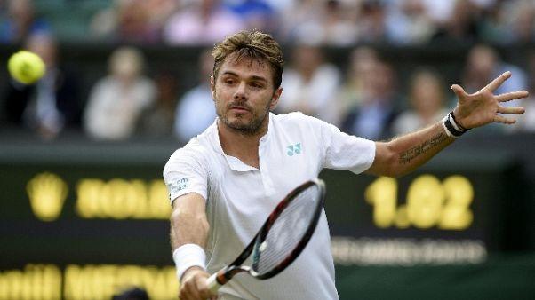 Wimbledon: Wawrinka saluta al primo atto