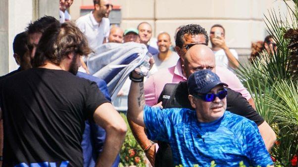 Maradona arrivato a Napoli