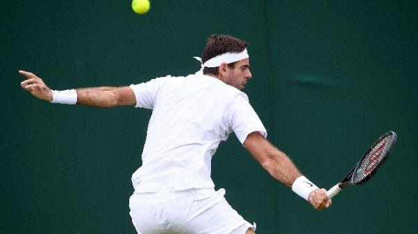 Wimbledon: avanti Del Potro e Raonic