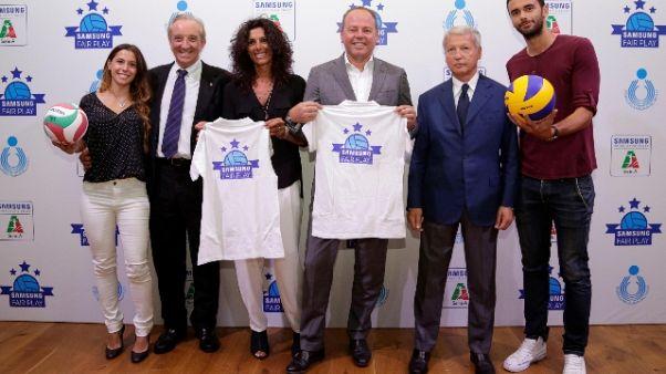 Con Samsung Fair Play supporto al volley