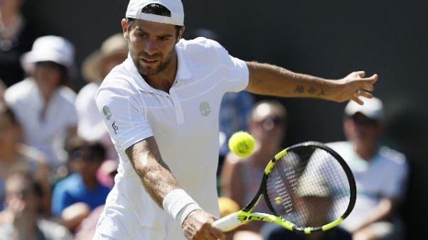 Wimbledon: Bolelli eliminato da Tsonga