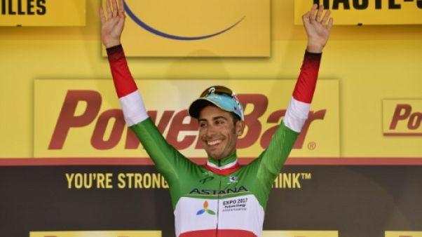 """Tour de France: """"la guerre jusqu'à la fin"""", promet Fabio Aru"""