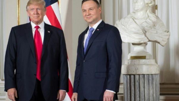 L'avenir de l'Occident est en jeu, va affirmer Trump à Varsovie