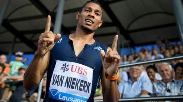 Athlétisme: Van Niekerk rentre par la grande porte sur 400 m à Lausanne
