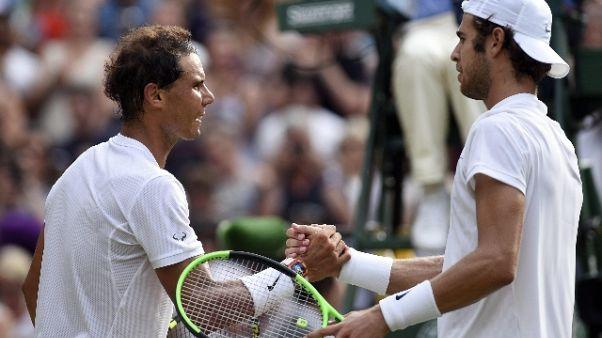 Wimbledon: Nadal agli ottavi