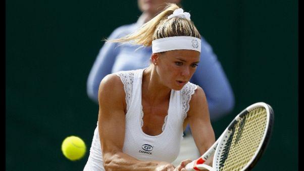 Wimbledon: Giorgi fuori