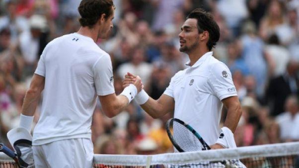 Wimbledon: Murray a souffert pour écarter Fognini