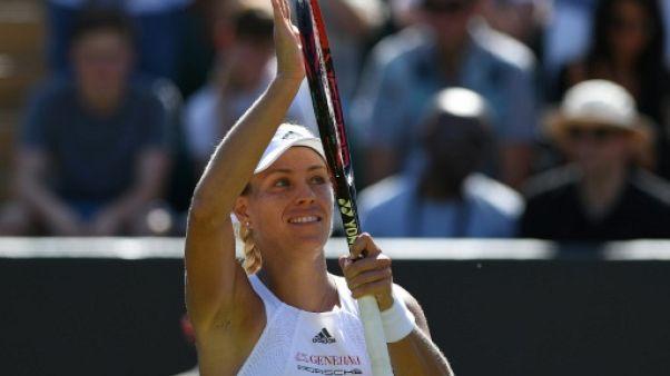 Wimbledon: Kerber a cravaché pour aller en 8e