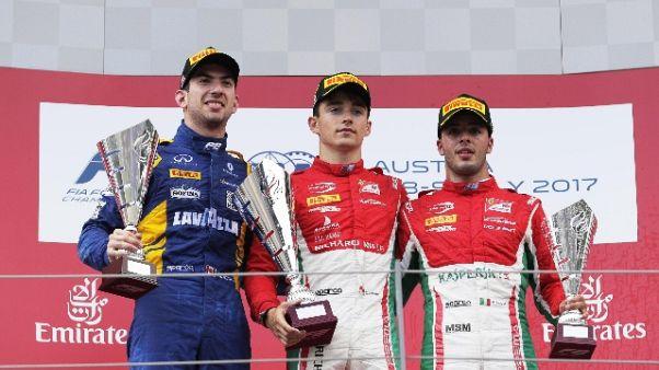 F2: Leclerc cala il poker, Fuoco è terzo