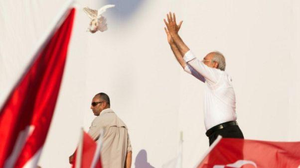 """Turquie: rassemblement géant à l'arrivée de la """"marche pour la justice"""""""