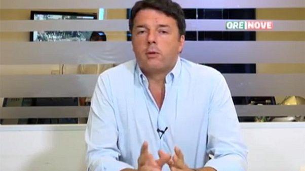 Renzi, su migranti io di buon senso