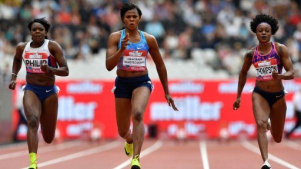 Athlétisme: Thompson mate Schippers sur 100 m à Londres
