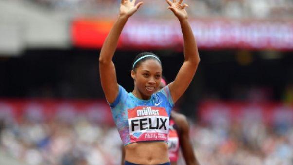 Athlétisme: meilleure performance mondiale de l'année pour Allyson Felix sur 400 m à Londres