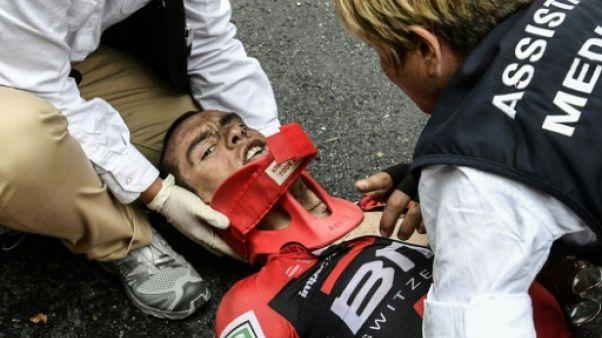 Tour de France: clavicule et bassin fracturés pour Porte