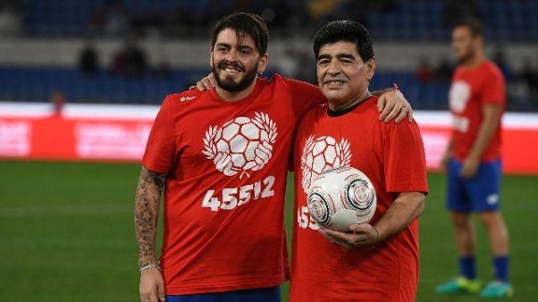 Maradona jr con l'Afro Napoli United