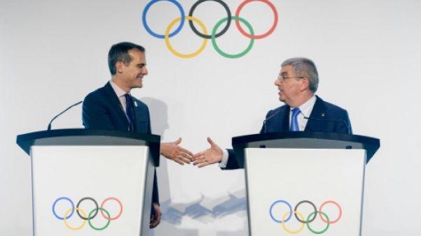 """JO-2024: le maire de Los Angeles déterminé à """"ramener les Jeux"""" en Amérique"""