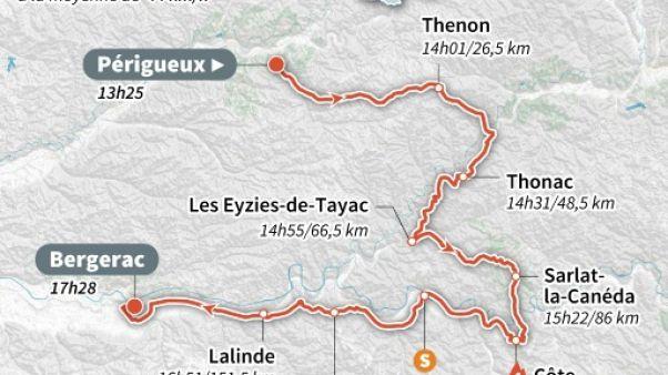 Tour de France: les coureurs s'élancent dans la 10e étape vers la préhistoire