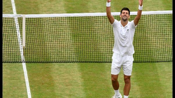 Wimbledon:Mannarino ko,Djokovic a quarti