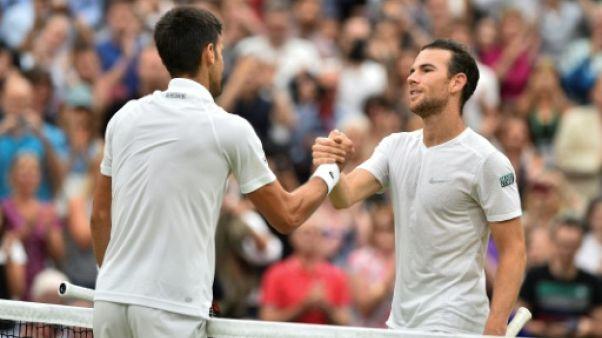 Wimbledon: Mannarino, dernier rescapé français, éliminé en 8e par Djokovic
