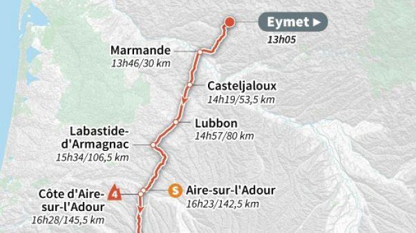 Tour de France: départ de la 11e étape vers les Pyrénées