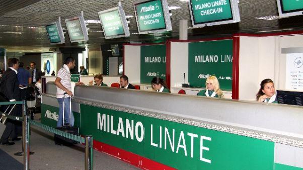 Linate, il check in va in tilt, disagi