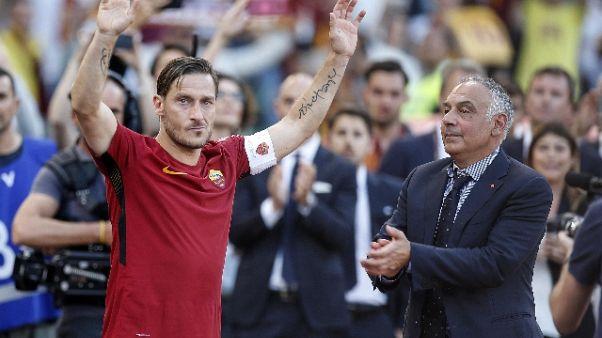 Incontro Totti-Pallotta su futuro ex 10