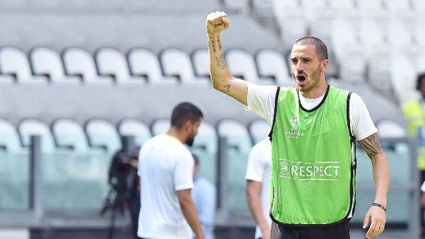 Bonucci a casa Milan, entusiasmo tifosi