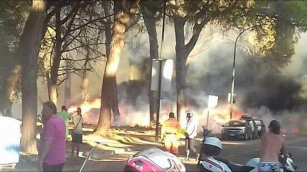 Incendio Marina Grosseto, danni a auto