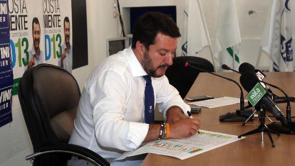 Salvini, con Alfano non discuto