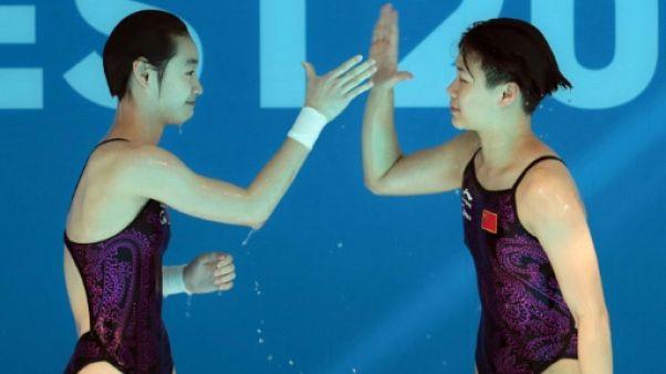 Natation: la Chine encore en or au plongeon/3 m synchronisé dames