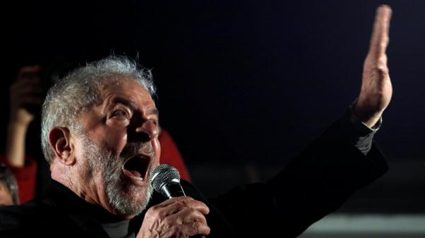 Brazil's Lula says he is being persecuted in court as supporters protest