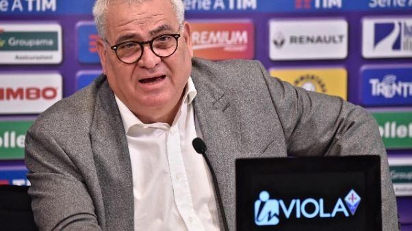Fiorentina: striscione contro Corvino