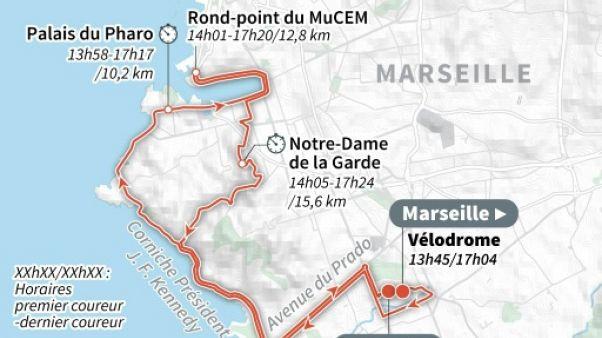 Tour de France: retour à Marseille pour la 20e étape
