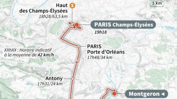 """Tour de France: le sprint des """"Champs"""" pour l'ultime étape"""