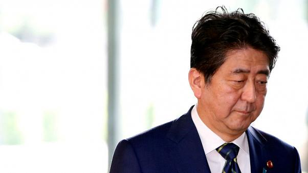 Japanese PM Abe's support slides again before parliament appearance