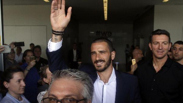 Bonucci, Milan 7 Champions,non è un caso