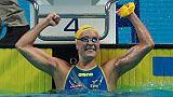 Natation: la Suédoise Sjöström sacrée à nouveau sur 100 m papillon