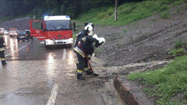 Maltempo, riaperta statale del Brennero