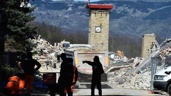 100 mln per rimozione macerie sisma