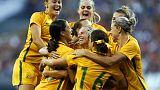 Butt strikes gives Australia's women first win over U.S.